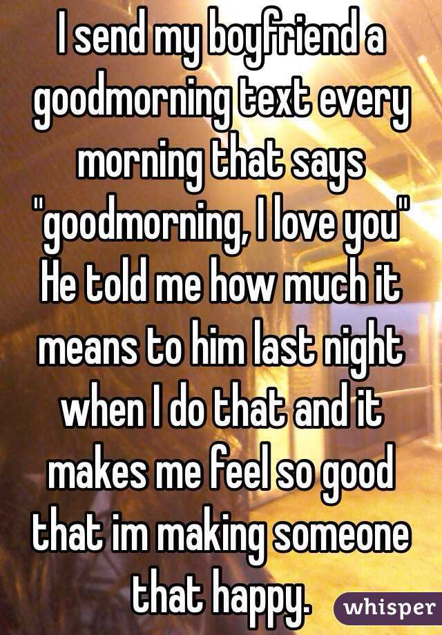 What Do Good Morning Texts Mean From A Guy