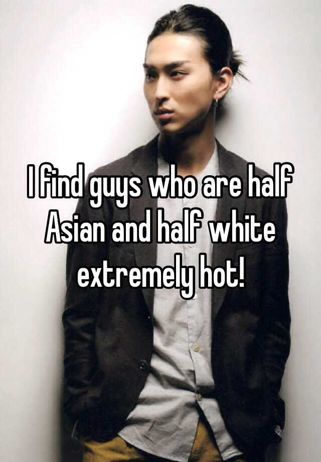 Half asian half white guy
