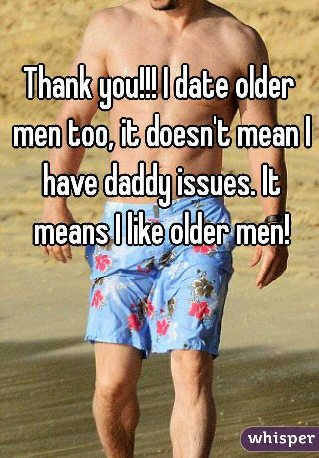 Issues with dating an older man