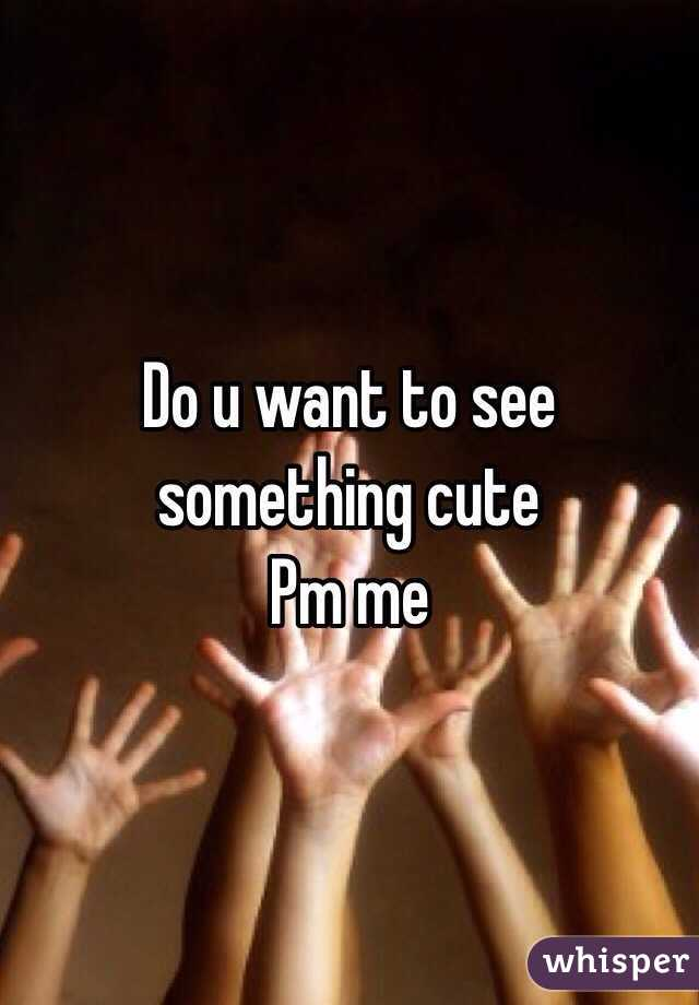 Do u want to see something cute  Pm me