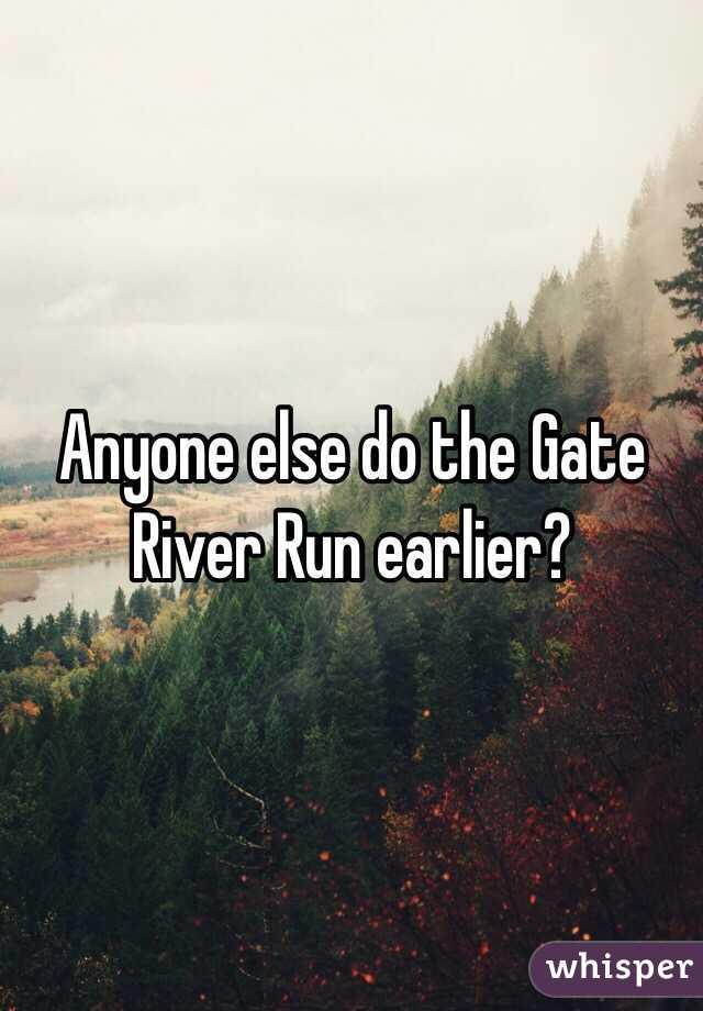 Anyone else do the Gate River Run earlier?