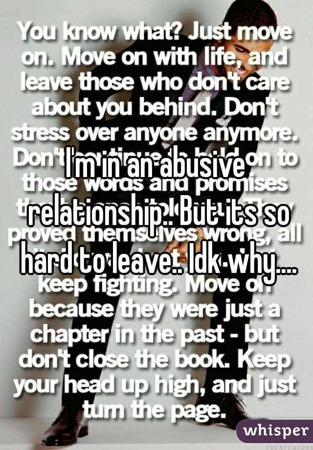 why is it so hard to leave a relationship