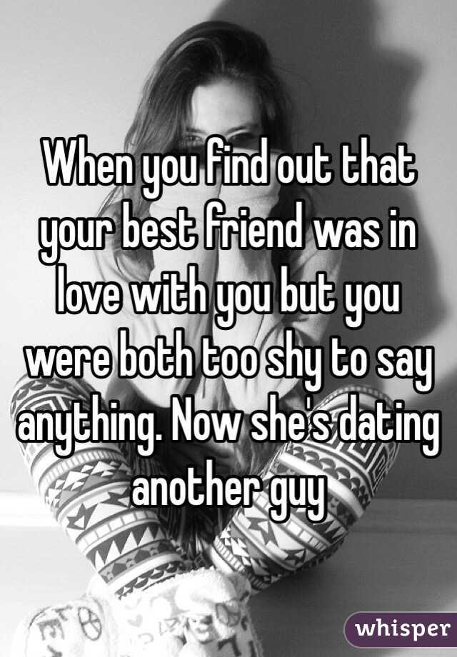 When You Find Out That Your Best Friend Was In Love With But Were Both