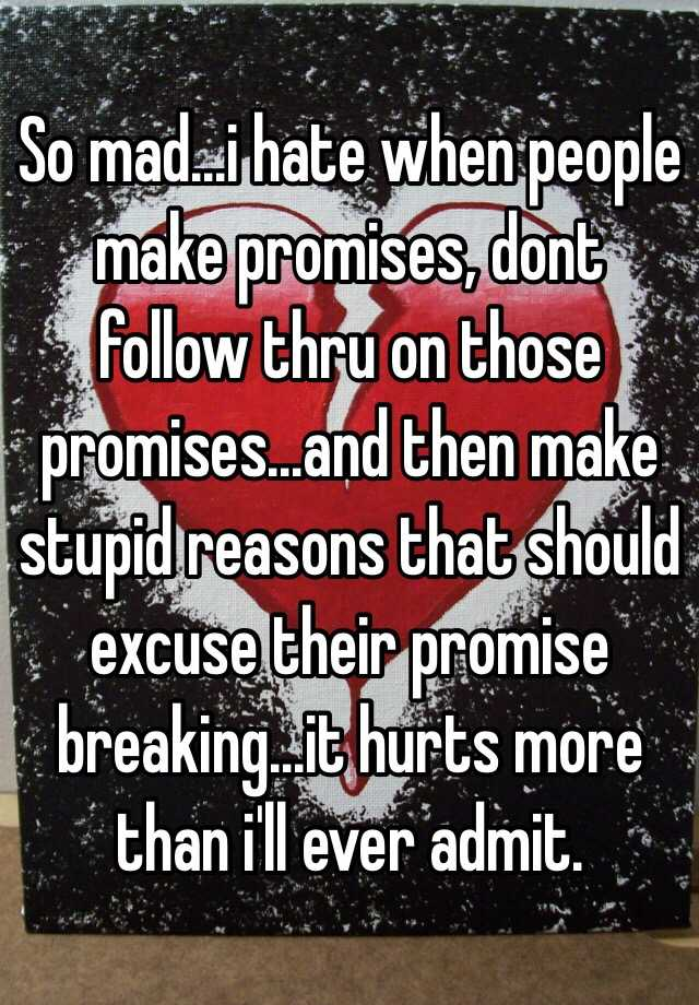 why people break promises