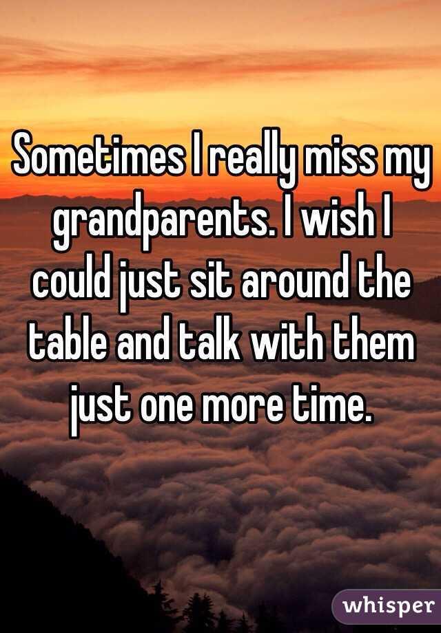 Image result for I miss my grandparents