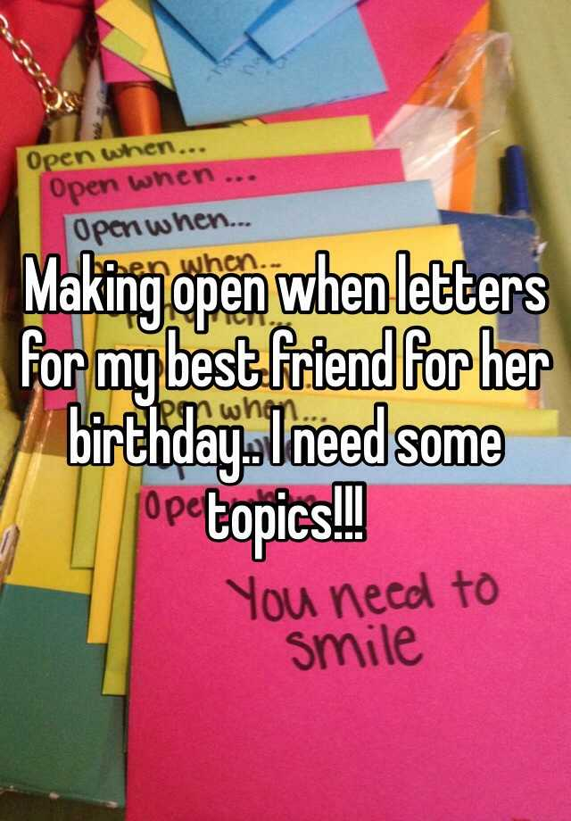 Letter To Your Best Friend Examples