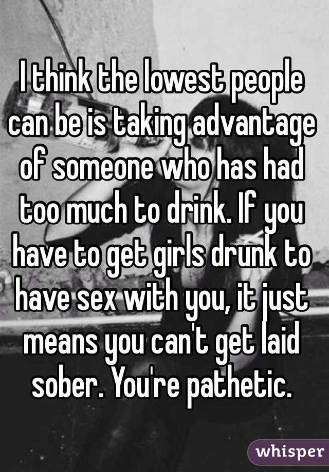 People taking advantage of drunk teens