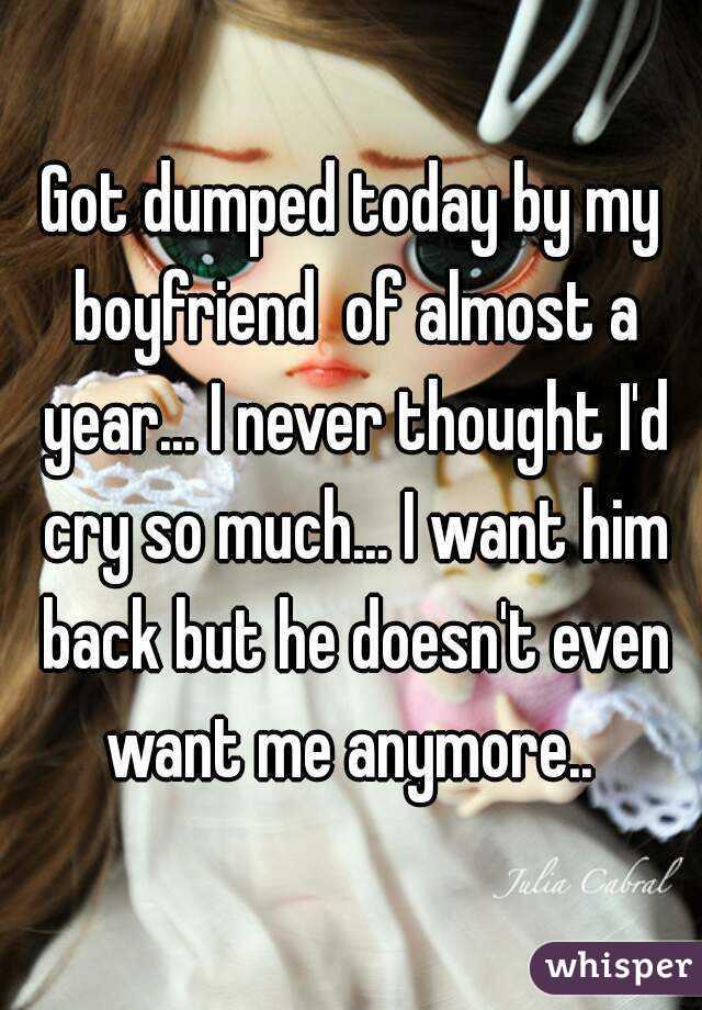 i dumped my boyfriend and i want him back