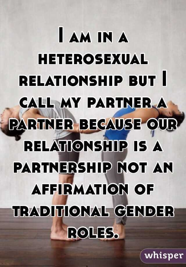 What is a heterosexual relationship