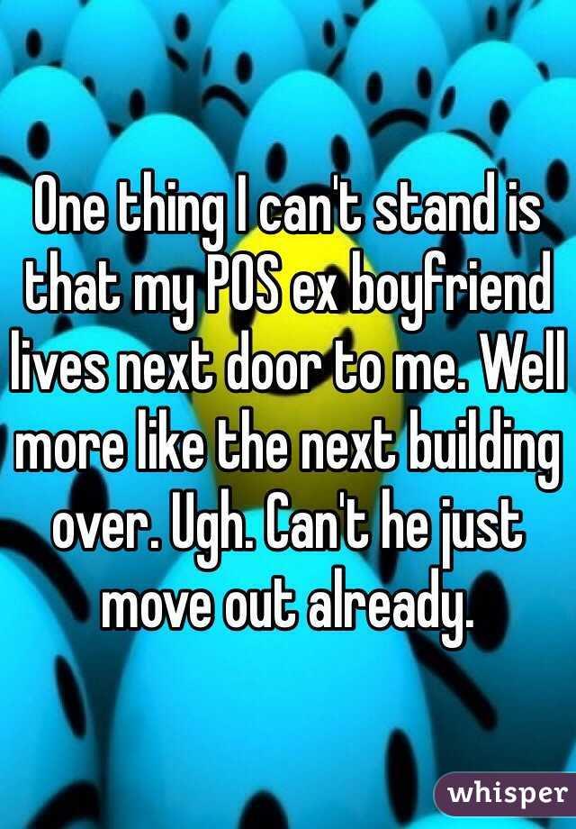 My ex lives next door
