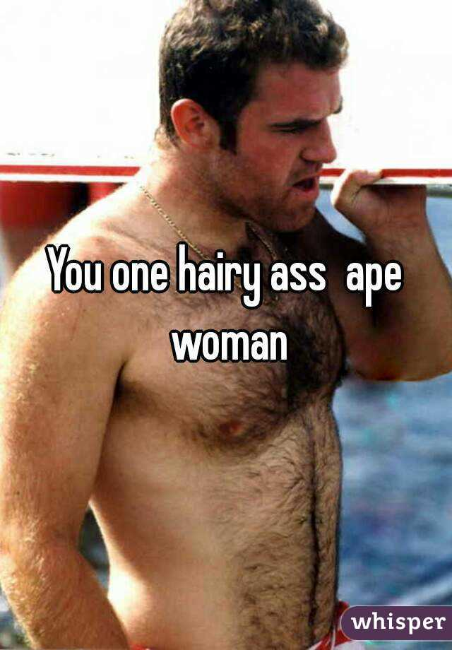 Women with very hairy assholes