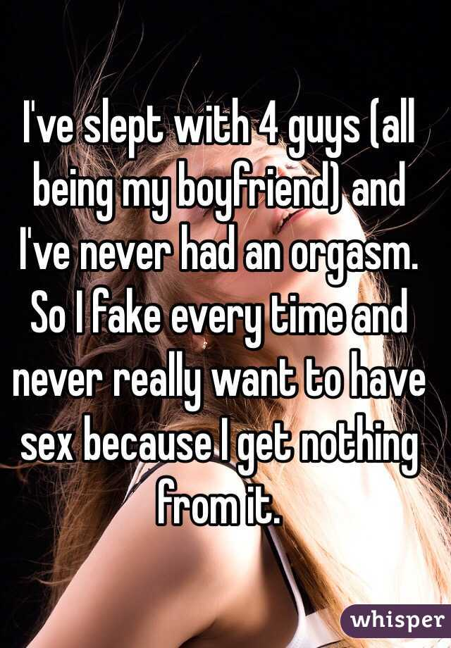 never slept with my boyfriend