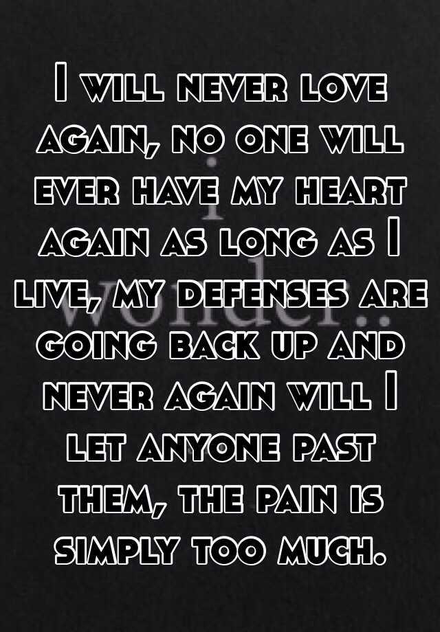 ever love again