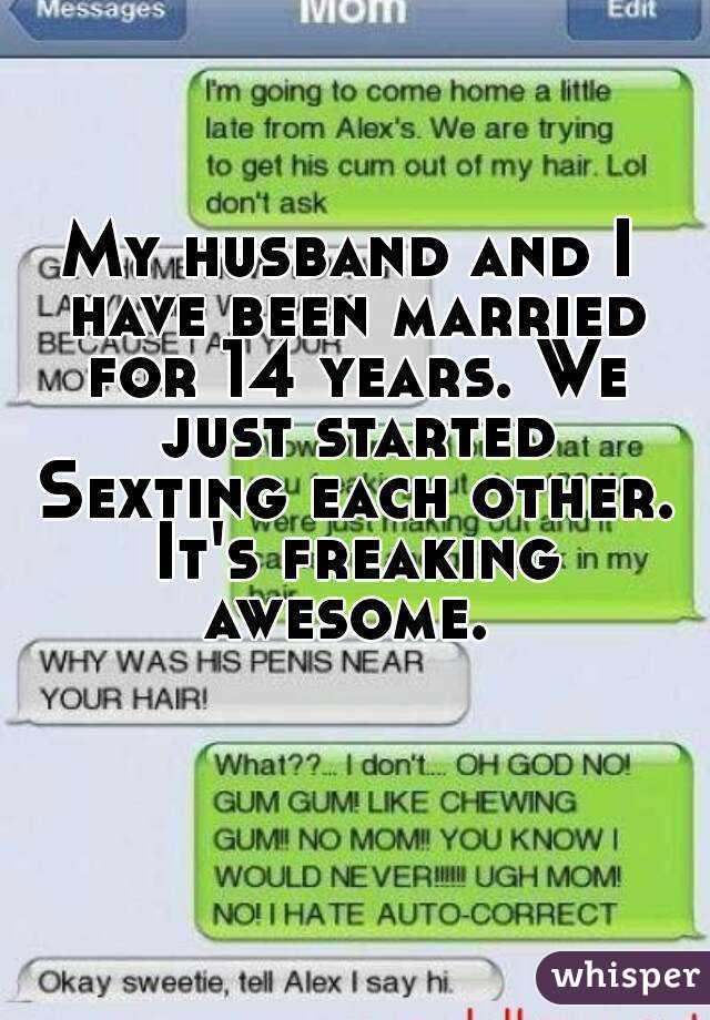 Sexting husband