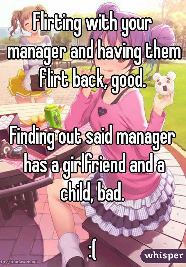how to flirt with your boss