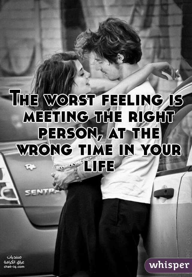 dating the right person at the wrong time