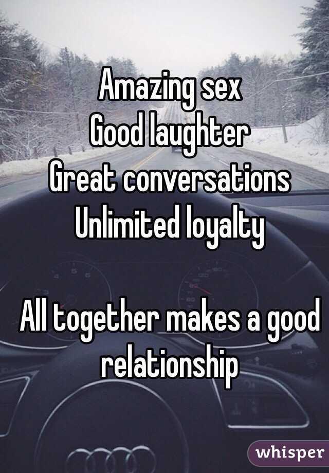 Good sex good relationship