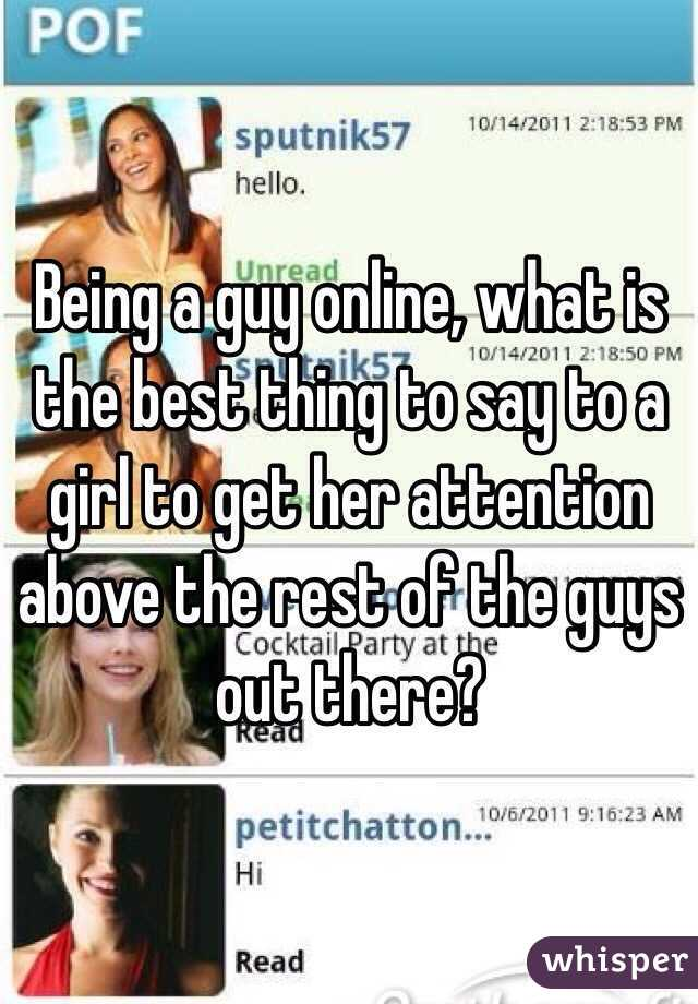 What to say to a girl online