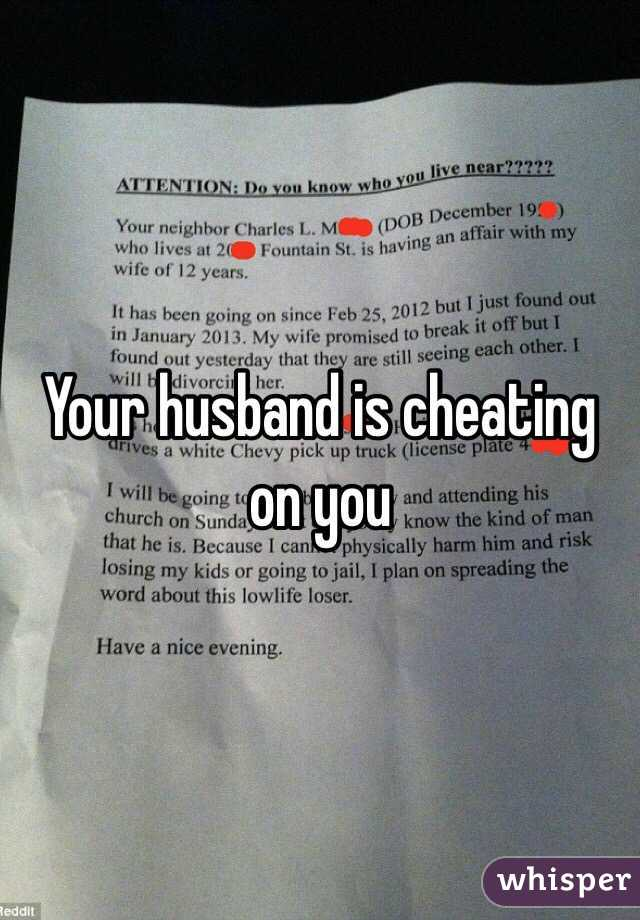 How to tell if ur husband is cheating