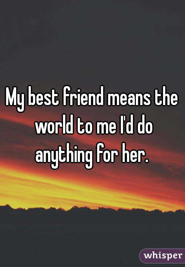 what does best friend mean