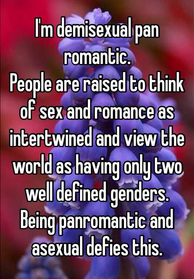 Panromantic demisexual definition