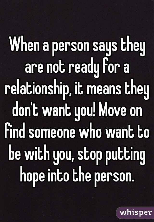 if a guy is not ready for a relationship