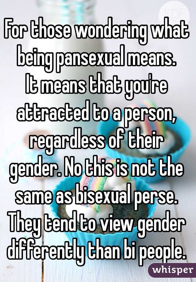 What pansexual means what it doesnt