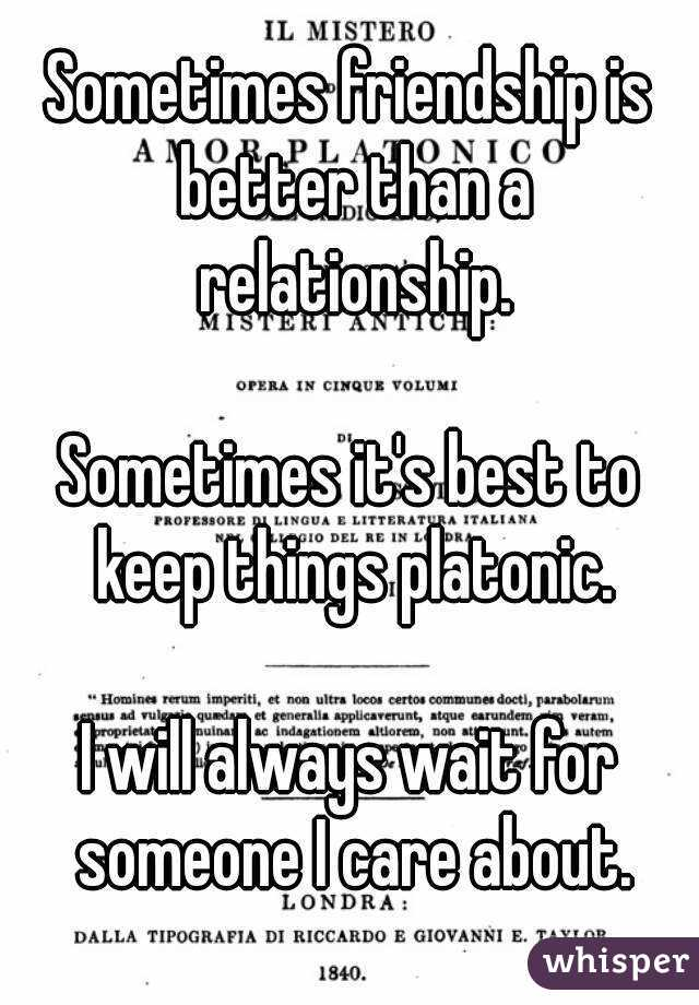 Platonic A To How Keep Relationship