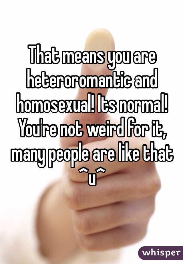 homosexual not normal