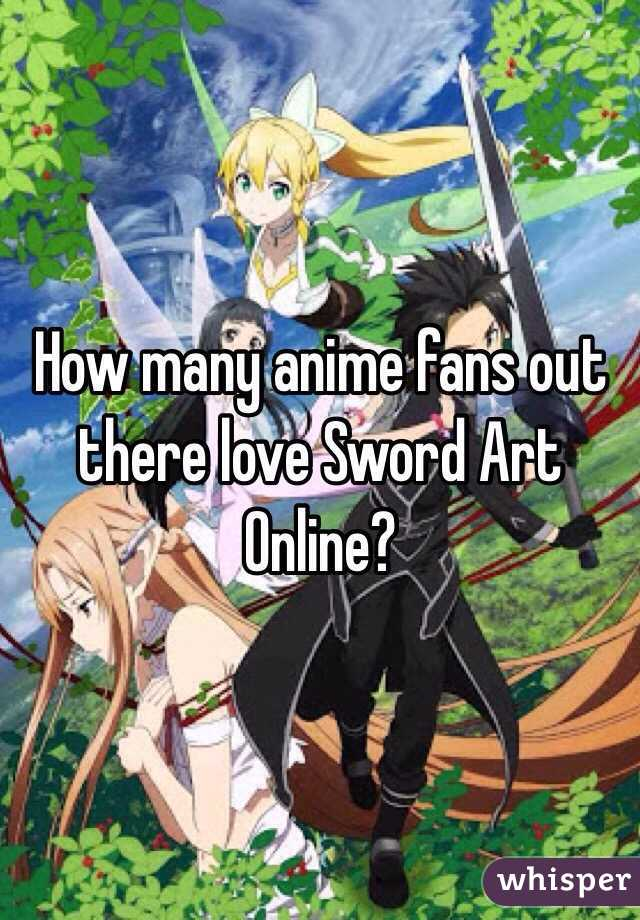 How many anime fans out there love Sword Art Online?