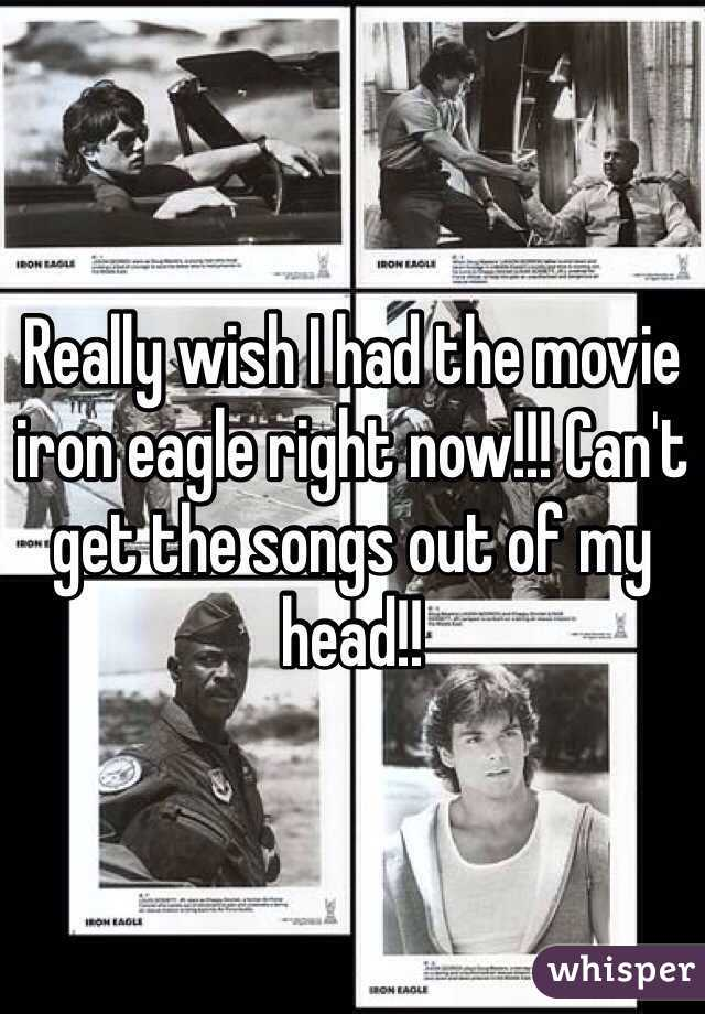 Really wish I had the movie iron eagle right now!!! Can't get the songs out of my head!!