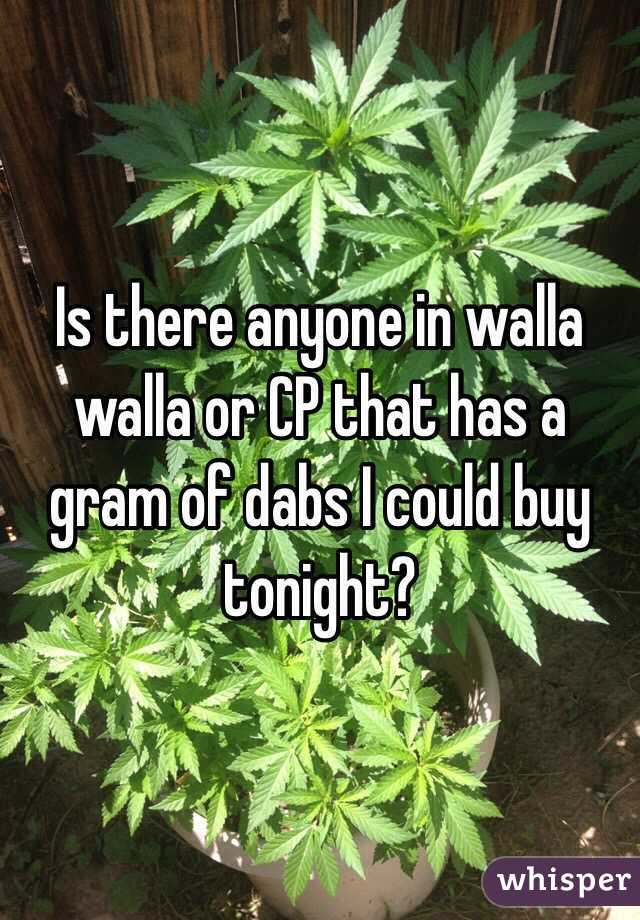 Is there anyone in walla walla or CP that has a gram of dabs I could buy tonight?
