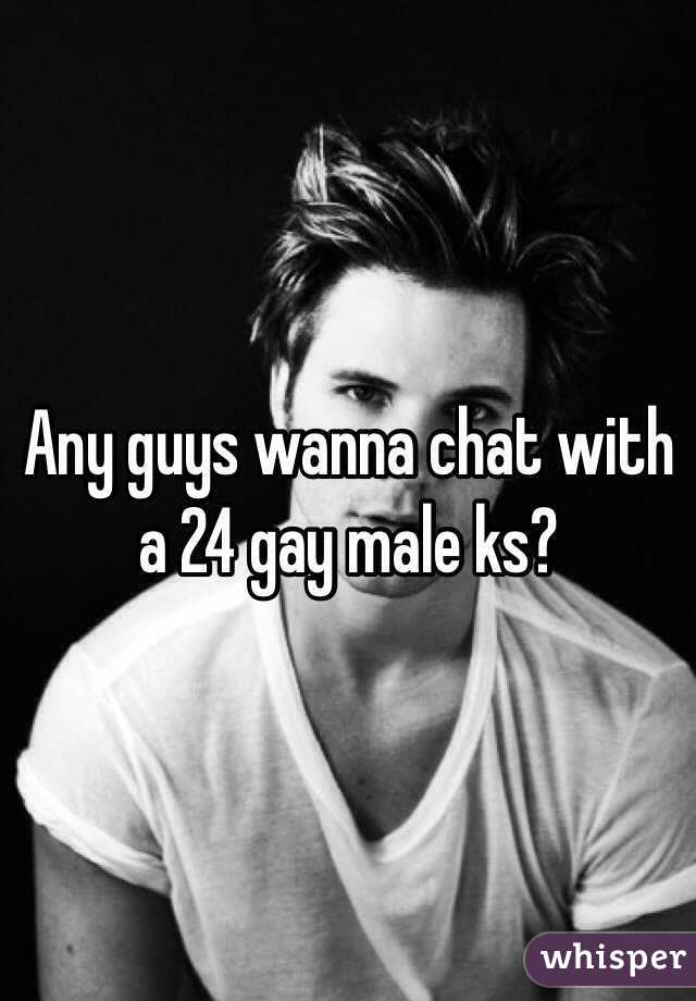 Any guys wanna chat with a 24 gay male ks?