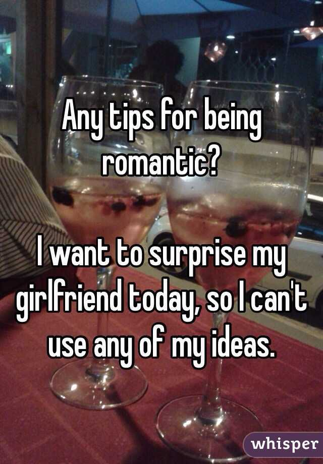 My I want to girlfriend surprise