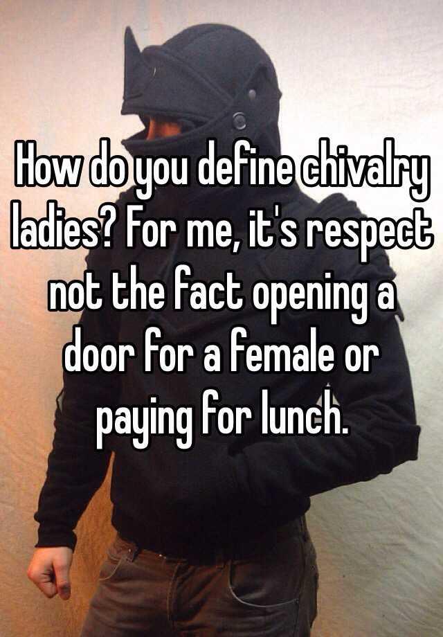 Define chivlary