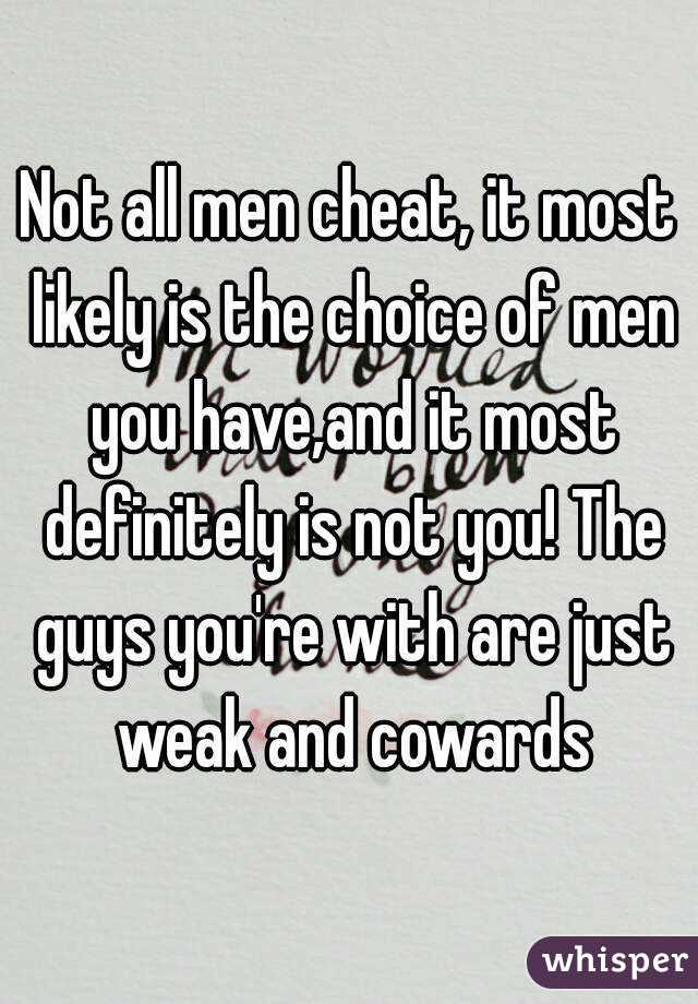 are all men unfaithful
