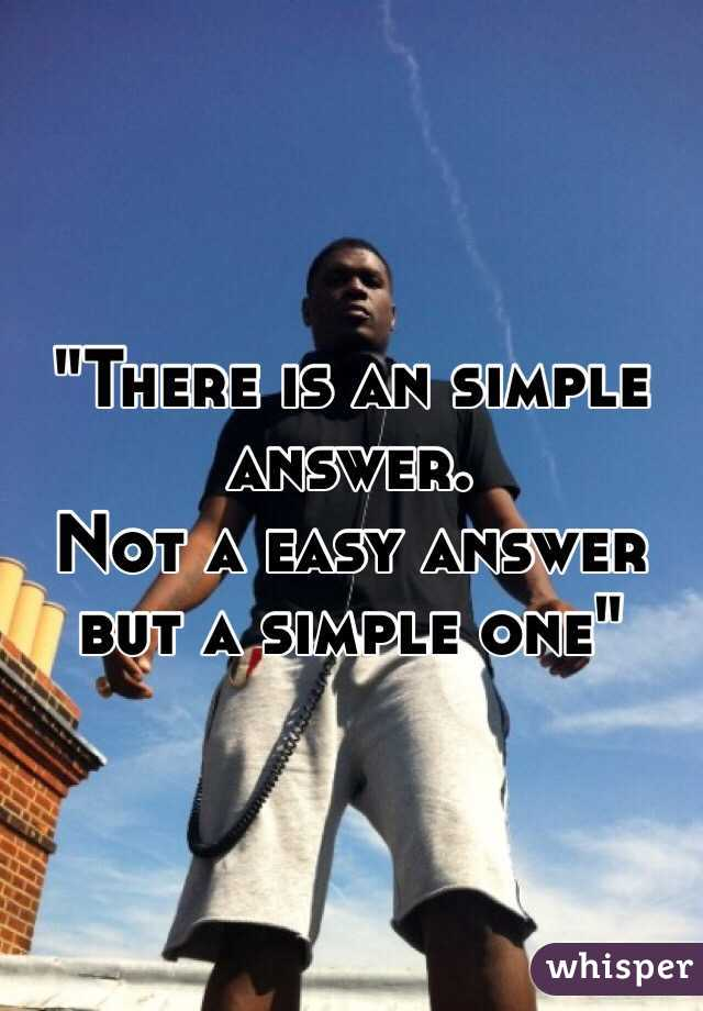 """There is an simple answer.  Not a easy answer but a simple one"""
