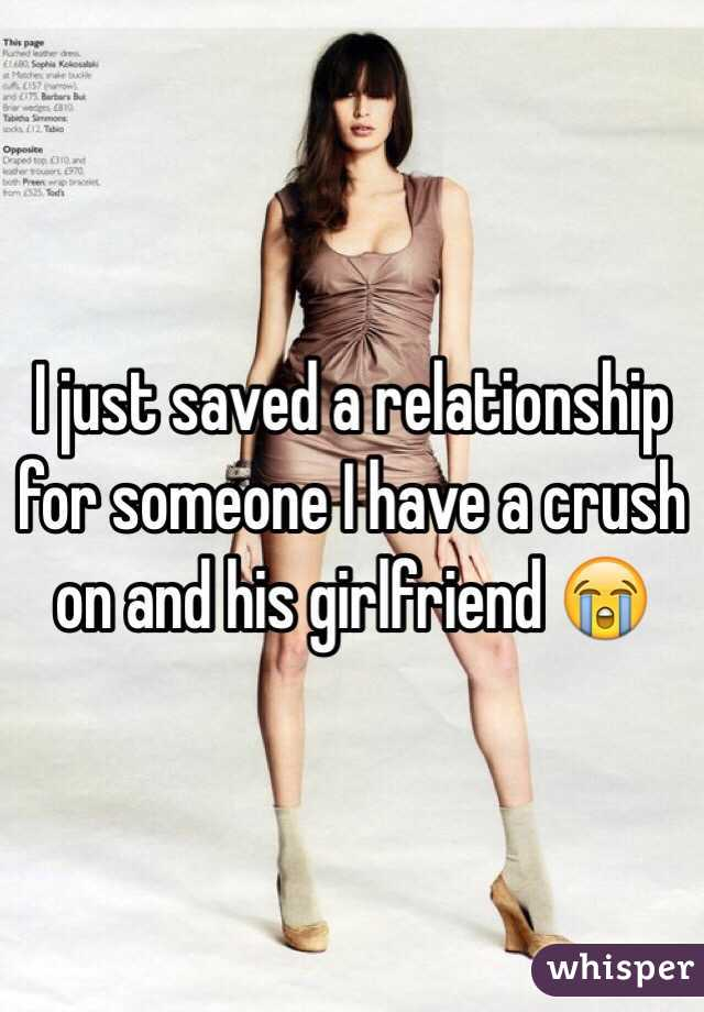 I just saved a relationship for someone I have a crush on and his girlfriend 😭