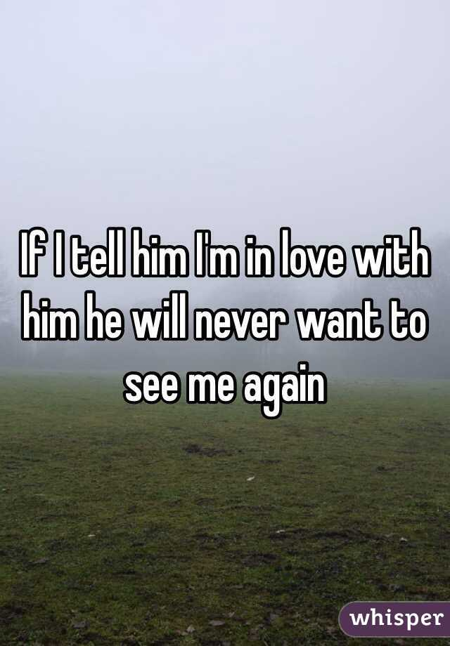 If I tell him I'm in love with him he will never want to see me again