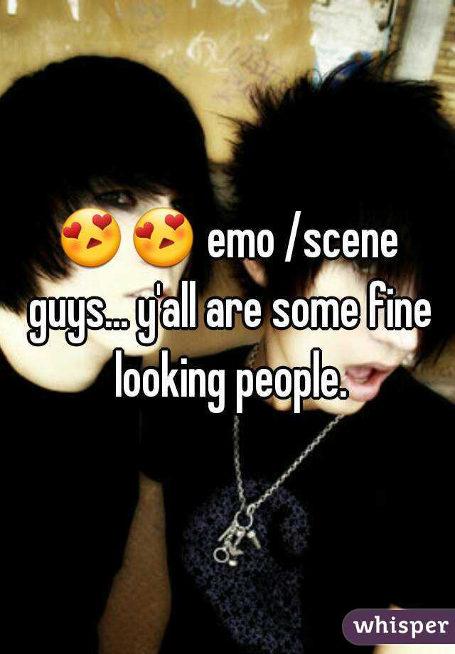 😍😍 emo /scene guys... y'all are some fine looking people.