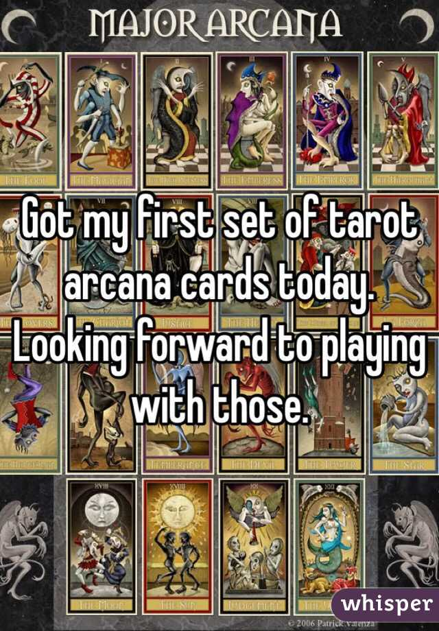 Got my first set of tarot arcana cards today. Looking forward to playing with those.