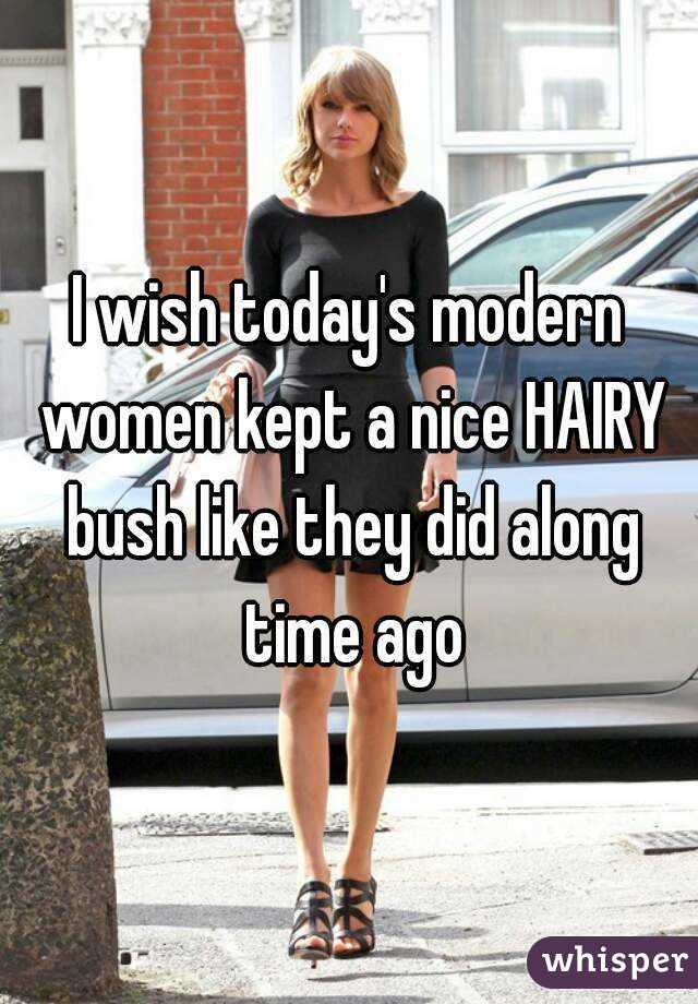 Have women with hairy bush