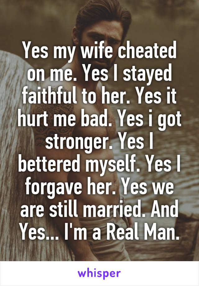 wife cheated on me