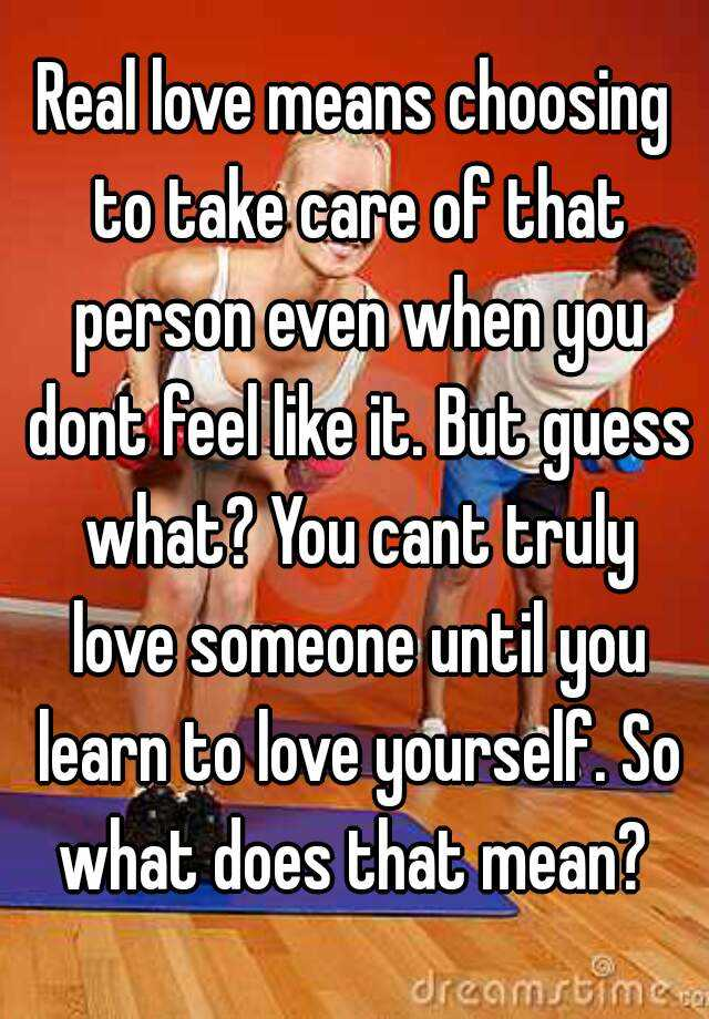 what does take care mean