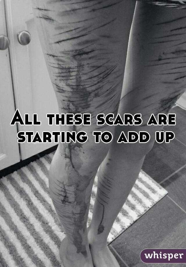 All these scars are starting to add up