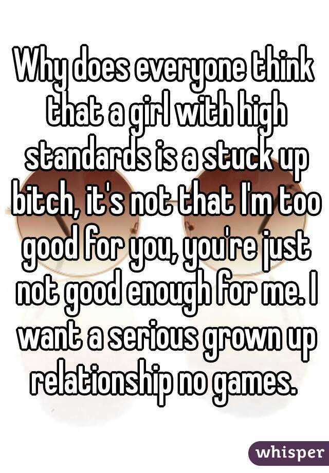 girls with high standards