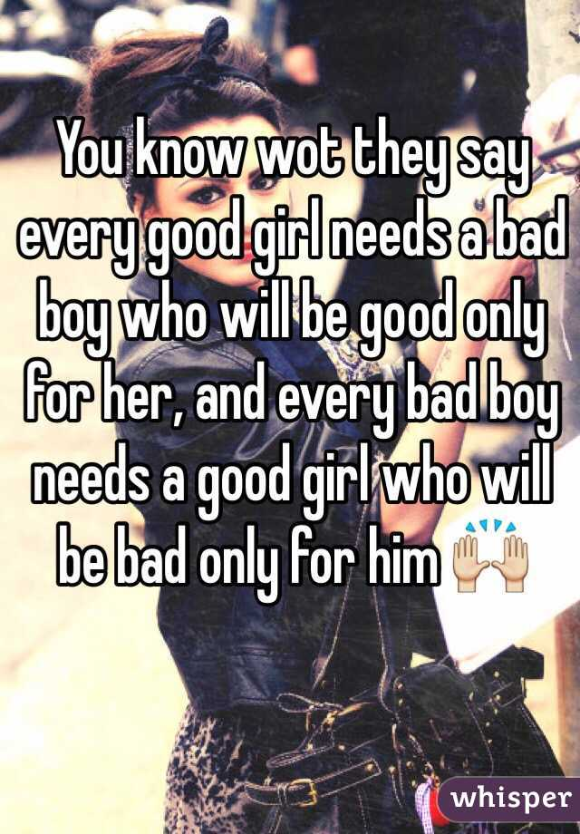 you know i ve been a real bad girl