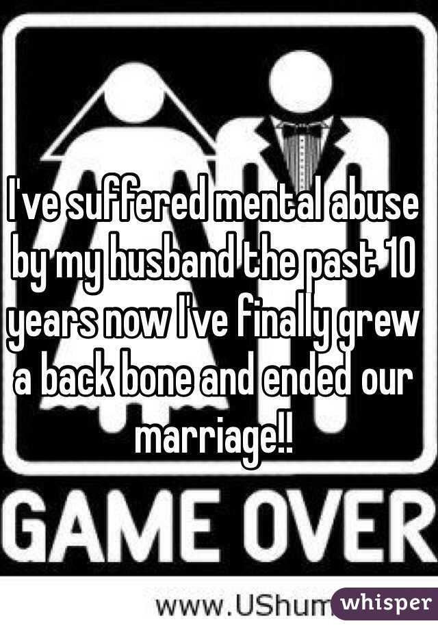 what is mental abuse from husband