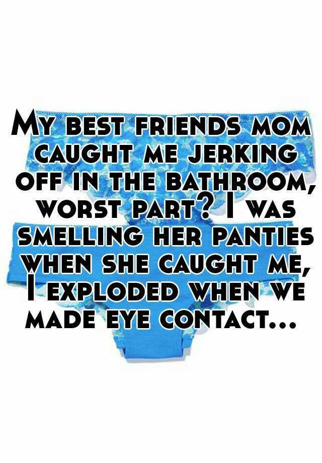 Jerking off in the blue panties