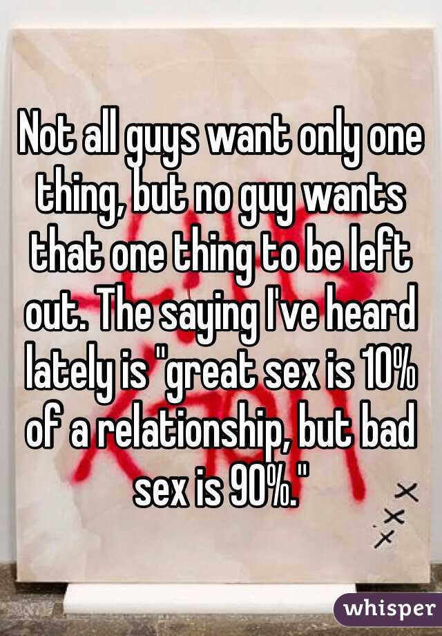 Great relationship but no sex